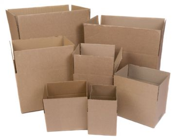 Cardboard Boxes - Single Wall Packing Cartons Storage Removals Mailing Post Box